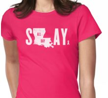 Think Pink Slay All Day Womens Fitted T-Shirt