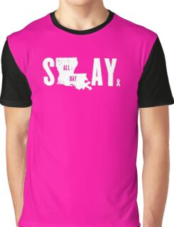 Think Pink Slay All Day Graphic T-Shirt