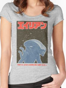 Alien Japan Poster Women's Fitted Scoop T-Shirt