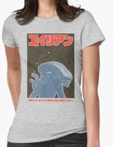 Alien Japan Poster Womens Fitted T-Shirt