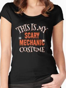 Scary Mechanic Costume Women's Fitted Scoop T-Shirt