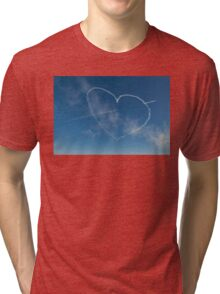 Red Arrows heart and spear Tri-blend T-Shirt