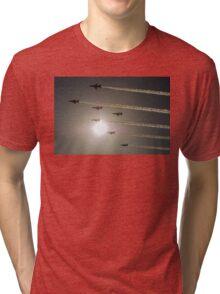 Red Arrows backlit arrival Tri-blend T-Shirt