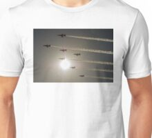 Red Arrows backlit arrival Unisex T-Shirt