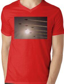 Red Arrows backlit arrival Mens V-Neck T-Shirt