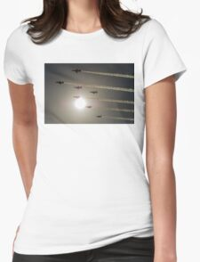 Red Arrows backlit arrival Womens Fitted T-Shirt