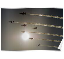 Red Arrows backlit arrival Poster