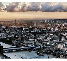 Sun Chasing Across London 3 of 3 Photographic Print