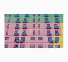 Colourfully Painted Exterior Apartment Building Wall - Melbourne, Victoria Kids Tee