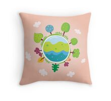 Green planet. We are going to rescue our planet! More trees everywhere Throw Pillow