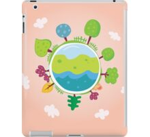 Green planet. We are going to rescue our planet! More trees everywhere iPad Case/Skin