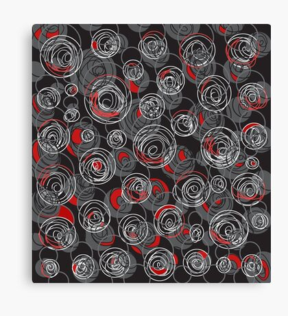 Gray and red abstract art Canvas Print