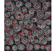Gray and red abstract art Photographic Print