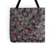 Gray and red abstract art Tote Bag