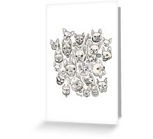 FRENCHIE FEVER Greeting Card