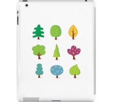 Retro tree designs. Retro vector illustration of nine trees. iPad Case/Skin