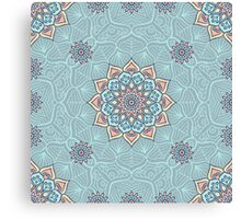 Turquoise mandala Canvas Print