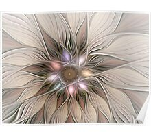 Joyful Flower Abstract Floral Fractal Art Poster