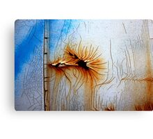 Abstract Rust Decay Canvas Print