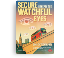London CCTV Poster - Secure Beneath The Watchful Eyes Metal Print