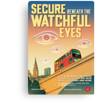 London CCTV Poster - Secure Beneath The Watchful Eyes Canvas Print