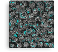 Gray and blue abstract art Canvas Print
