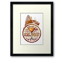 Manhattan recipe Framed Print