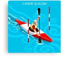 Kayak Slalom Canvas Print