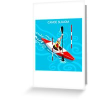 Kayak Slalom Greeting Card