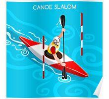Kayak Slalom Poster