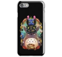 Totoro, Stitch, Dragon ! iPhone Case/Skin