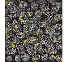Gray and yellow abstract art Photographic Print