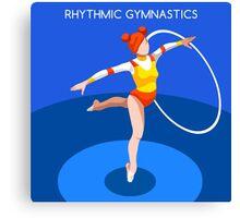 Gymnastics Rhythmic Hoop  Canvas Print