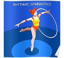Gymnastics Rhythmic Hoop  Poster