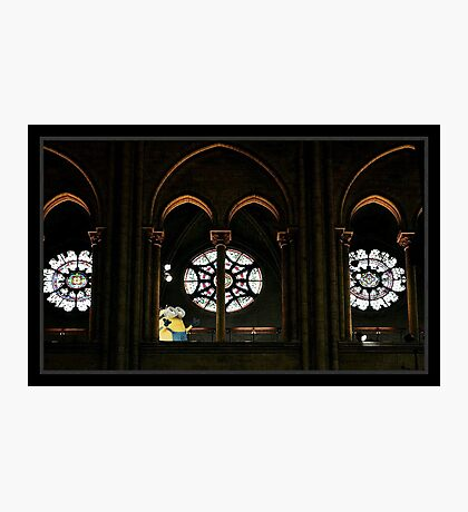 Minions Amazed at the Stained Glass Photographic Print