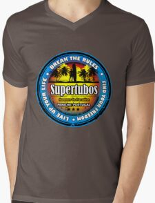 Wild Beach Supertubos Mens V-Neck T-Shirt