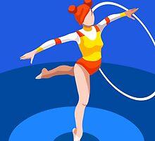 Gymnastics Rhythmic Hoop  by aurielaki