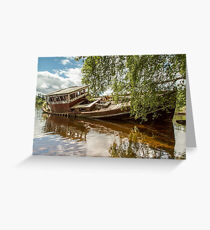 Boat Wreck Loch Ness Greeting Card