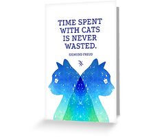 Cats Psychoanalysis Greeting Card