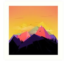 Oh the mountains Art Print