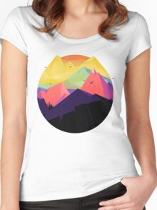 Oh the mountains Women's Fitted Scoop T-Shirt