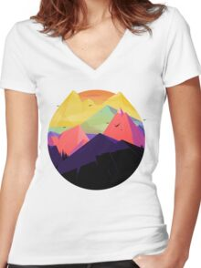 Oh the mountains Women's Fitted V-Neck T-Shirt
