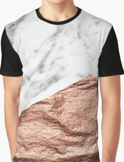 Rose gold foil marble geo Graphic T-Shirt
