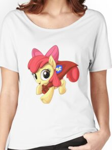 Apple Bloom Caped Crusader Women's Relaxed Fit T-Shirt
