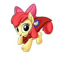 Apple Bloom Caped Crusader Photographic Print