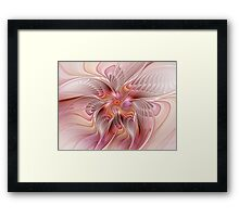 Abstract Butterfly, Colorful Fantasy Fractal Art Framed Print