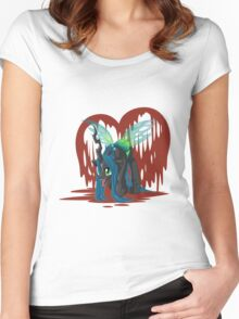 Chrysalis Bleeding Love Women's Fitted Scoop T-Shirt