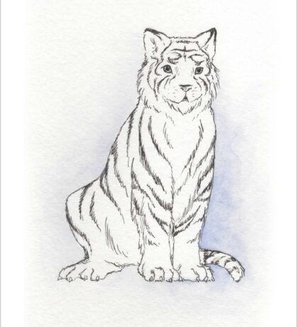 Ghostly Tiger Sticker