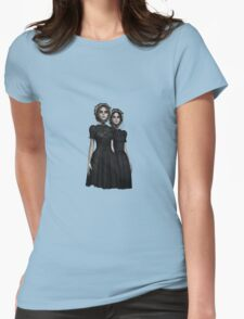They are coming - the deadly Halloween twins Womens Fitted T-Shirt