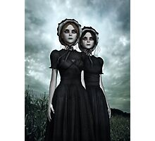 They are coming - the deadly Halloween twins Photographic Print